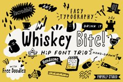 Whiskey Bite - Hip Font Trio Product Image 1