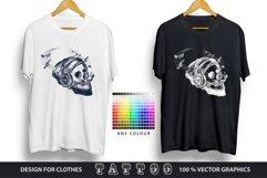 Human skull tattoo Product Image 3