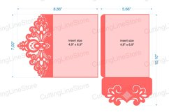 Lace wedding invitation template, Svg files for cricut Product Image 4