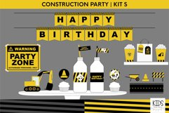 Construction birthday party printable decorations, party kit Product Image 1