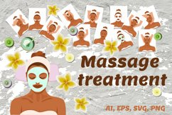 Facial massage treatments SVG Product Image 1