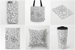 Ethnic mandalas black and white seamless patterns Product Image 4