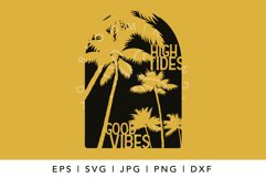 High tides good vibes SVG, Summer and beach tshirt design Product Image 2