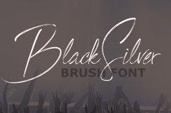 BlackSilver Brush Font Product Image 1