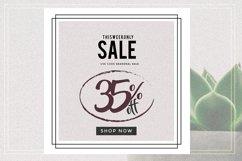 GRUNGE Social media sale banner pack Product Image 3