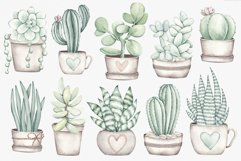 """Watercolor ClipArt """"Home Plants"""" Product Image 3"""