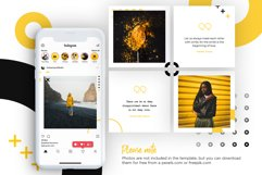 Black and yellow Instagram Puzzle Preset for Canva Product Image 7