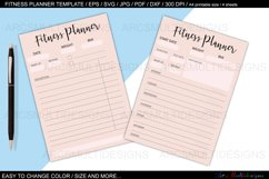 fitness planner template bundle Product Image 3