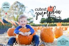 Cutest Pumpkin SVG, Baby shirt svg, Fall svg Product Image 3