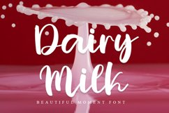 Dairy Milk | Beautiful And Fresh Font Product Image 1