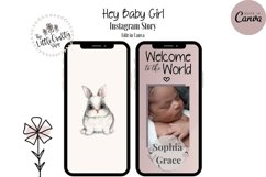 Canva Instagram Puzzle Template - Birth Announcement Product Image 5