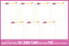Abstract Feather Daily Journal Planner Framed Blank 7 Pages Product Image 1