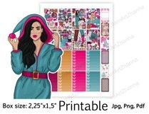 "Christmas Printable Sticker BoxSize 2,25""x1,5"" Product Image 4"