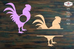 Cool rooster. Frame, monogram, silhouette. Product Image 3