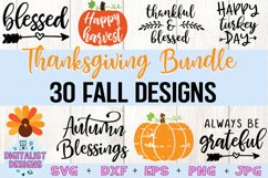 Thanksgiving SVG Bundle | 30 Designs Product Image 1