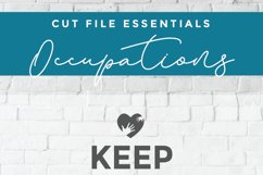 Keep Calm svg - a school counselor SVG file for crafters Product Image 2