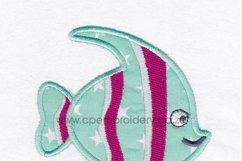 Striped Moorish Idol Pet Fish Applique Design Product Image 6