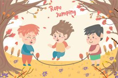Kids Playing Jump - Vector Illustration Product Image 1