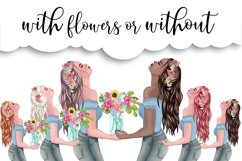 SPRING Clipart Planner FASHION Girl Clipart | Floral Planner Product Image 5