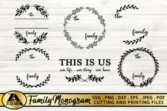 Family Monogram Bundle SVG Farmhouse Monogram SVG Bundle Product Image 2