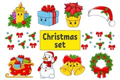 Christmas Set Digital Clip Art PNG Product Image 1