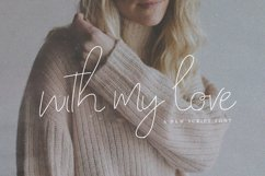 With My Love Script Font Product Image 1