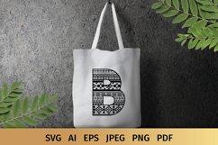 Aztec Alphabet SVG | Alphabet Letters SVG Product Image 4
