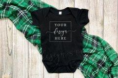 2 Image St. Patricks Baby Bodysuit Mockup Black Clover Product Image 2