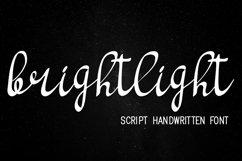 bright light script handwritten font Product Image 2
