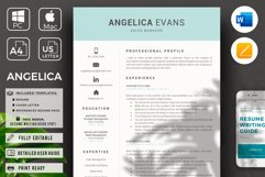 Modern Resume Template and Cover Letter. Fully editable CV Product Image 1