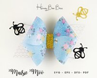 Bow Bundle Template SVG, Spring Bow SVG, Faux Leather Bow Product Image 5