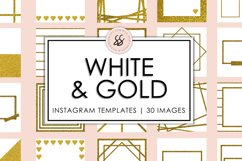 White and Gold Instagram Templates Product Image 1
