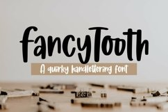 Web Font Fancytooth - Quirky Handlettering Font Product Image 1