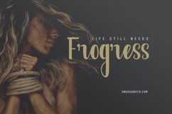 Frogress Calligraphy Script Fonts Product Image 1