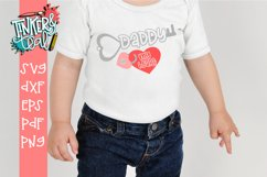 Daddy Is The Key To My Heart Valentine SVG Cut file Product Image 1