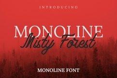 Web Font Monoline Misty Forest Font Product Image 1