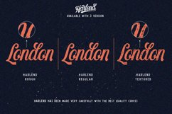 Harlend 6 fonts with extras intro Product Image 3