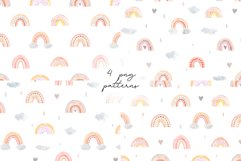 Watercolor Rainbow. Collection Patterns and Cliparts Product Image 2