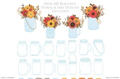 Fall Mason Jar Wedding Clipart - Autumn Wedding Graphics Product Image 5