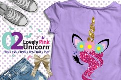 Lovely Pink Unicorn 02 high res svg Product Image 1