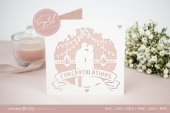 Congratulations Wedding Card SVG for Cricut and Silhouette Product Image 5