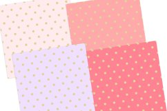 Gold Pastel Polka Dot Pattern Digital Papers Product Image 2