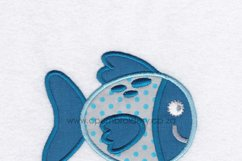 Gold Spotted Fish Applique Machine Embroidery Design Product Image 4