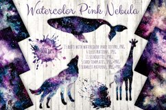 Watercolor Pink Nebula Collection Product Image 1