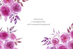 Watercolor pink flowers Product Image 3