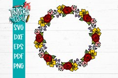 Floral Wreath Svg Product Image 2