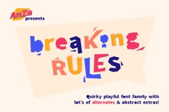 Breaking Rules - new quirky playful and funny font family. Product Image 1
