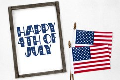Independence Day - A Hand-Drawn 4th of July Font Product Image 2