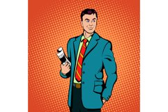 Businessman concept, comics style Product Image 1