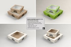 Paper Tapered Window Boxes Packaging Mockup Product Image 5